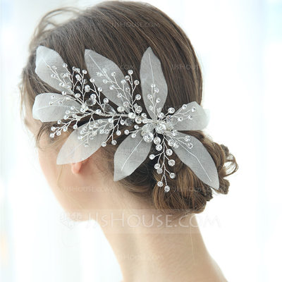 Ladies Glamourous Crystal/Rhinestone/Voile Combs & Barrettes Crystal (Sold in single piece)