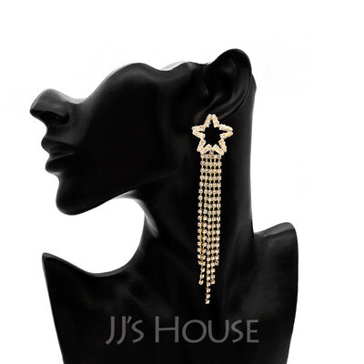 Ladies' Beautiful Alloy/Rhinestones Rhinestone Nrop Earrings Earrings