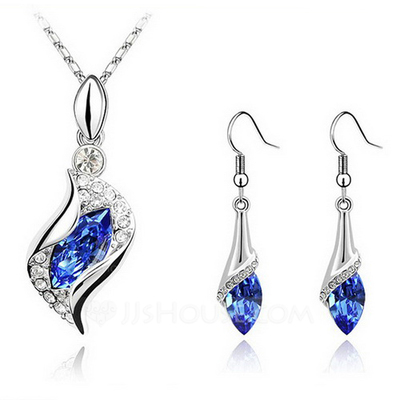 Fashionable Alloy With Crystal Jewelry Sets