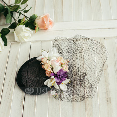 Ladies' Classic/Charming With Tulle/Flower Fascinators/Beret Hat