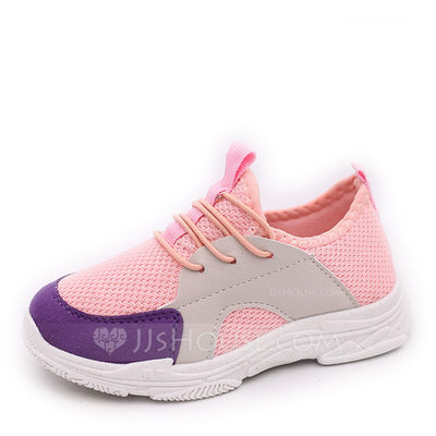 Unisex Round Toe Closed Toe Mesh Flats Sneakers & Athletic With Lace-up
