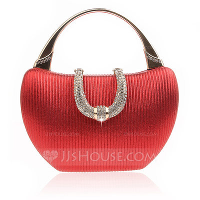 Elegant Sparkling Glitter Clutches/Top Handle Bags