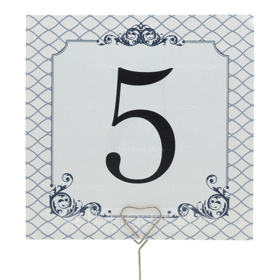 Simple Table Number Cards (Set of 10)