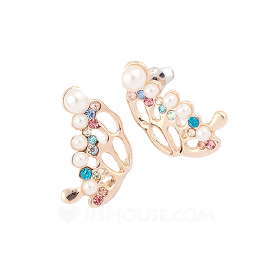 Beautiful Alloy With Pearl Women's Earrings