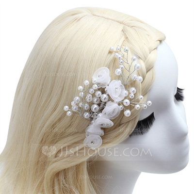 High Quality Pearl/Net Yarn Flowers & Feathers