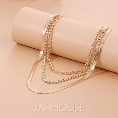 Unisex Fashionable Alloy Necklaces