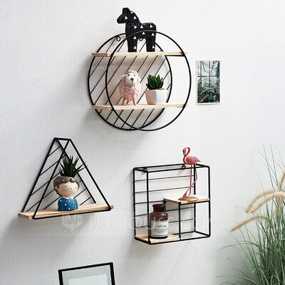 Casual Iron Storage&Organization Wall Decoration (Sold in a single piece)