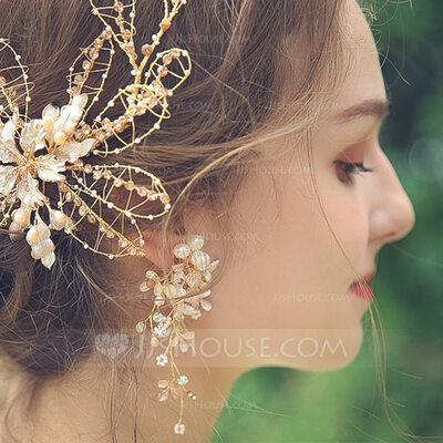 Ladies' Charming Alloy Rhinestone/Beads/Imitation Pearls Earrings For Bride/For Bridesmaid/For Mother/For Friends/For Her