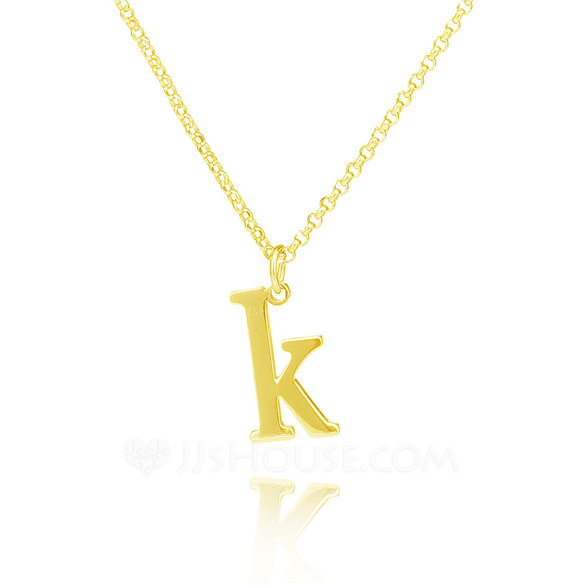 Custom 18k Gold Plated Silver Initial Letter Name Necklace Initial Necklace - Birthday Gifts Mother's Day Gifts
