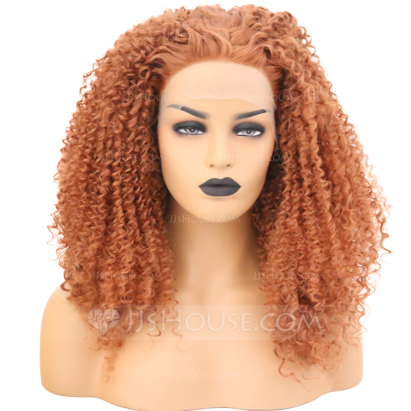 Curly Synthetic Hair Lace Front Wigs 340g 219179115