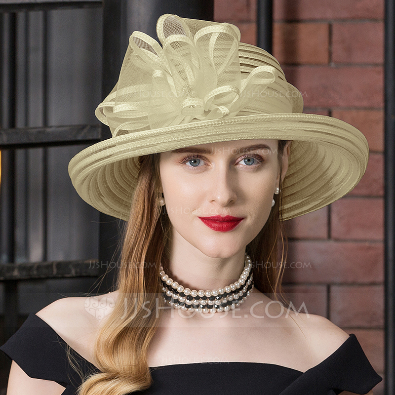 Ladies' Exquisite Cambric With Rhinestone Floppy Hats/Kentucky Derby Hats/Tea Party Hats