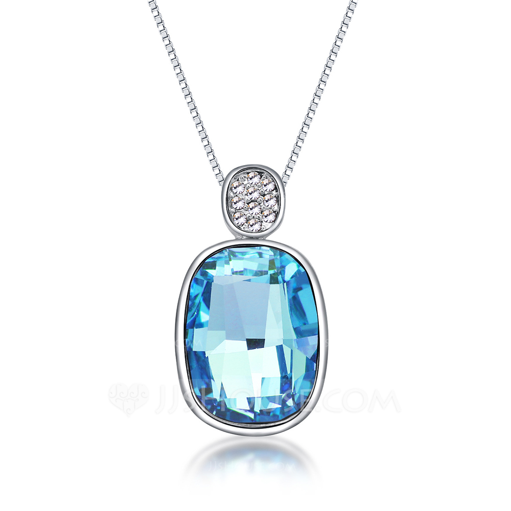 Ladies' Vintage Alloy Crystal Necklaces For Mother/For Friends