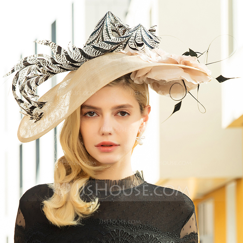 Ladies' Special/Elegant/Eye-catching Cambric With Feather Fascinators/Kentucky Derby Hats