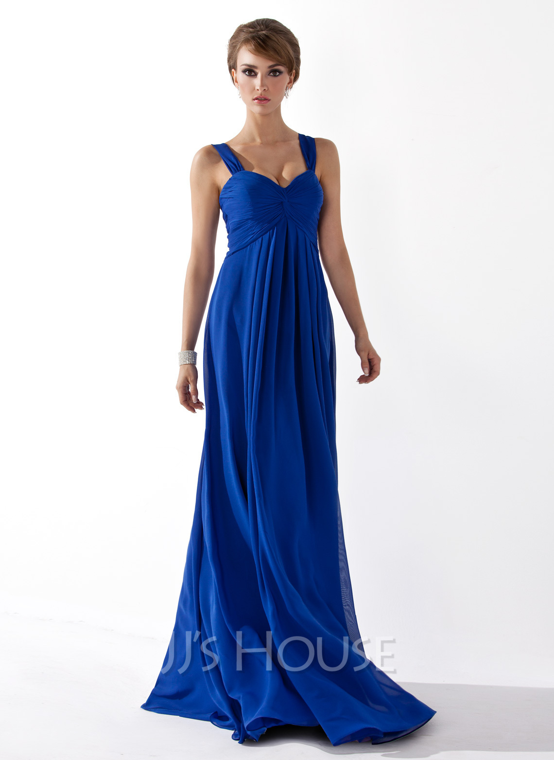 Chiffon Floor-length Empire Sweetheart Bridesmaid Dress - Bridesmaid ...