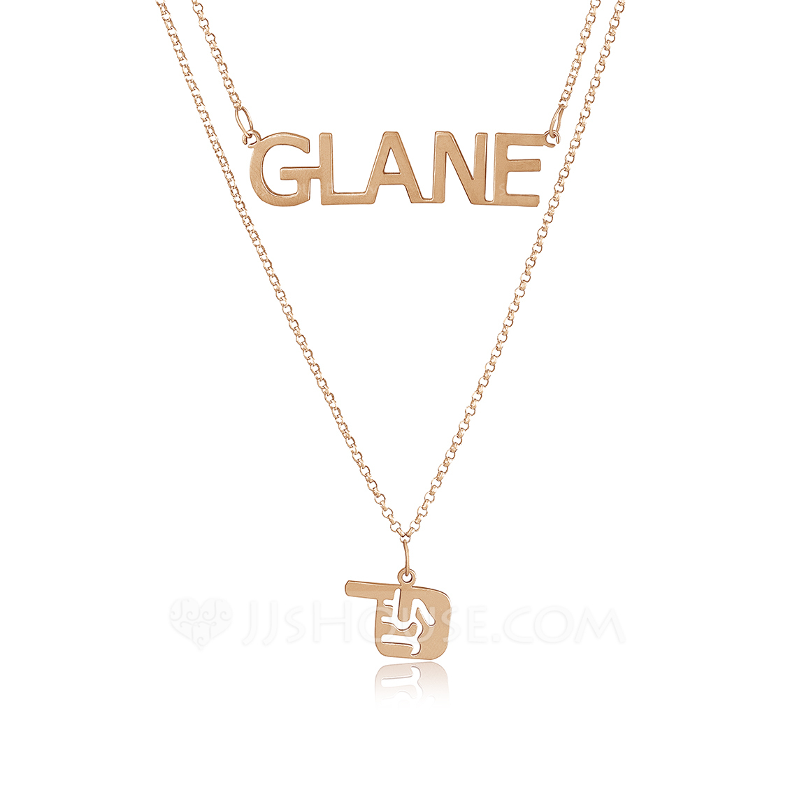 PERSONALISED NAME NECKLACE WITH DIAMANTE christmas gift jewellery pendant