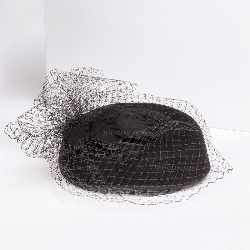 Ladies' Beautiful/Special/Elegant Wool With Tulle Beret Hats/Tea Party Hats
