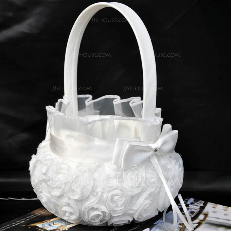 Beautiful Flower Basket in Cloth With Flower