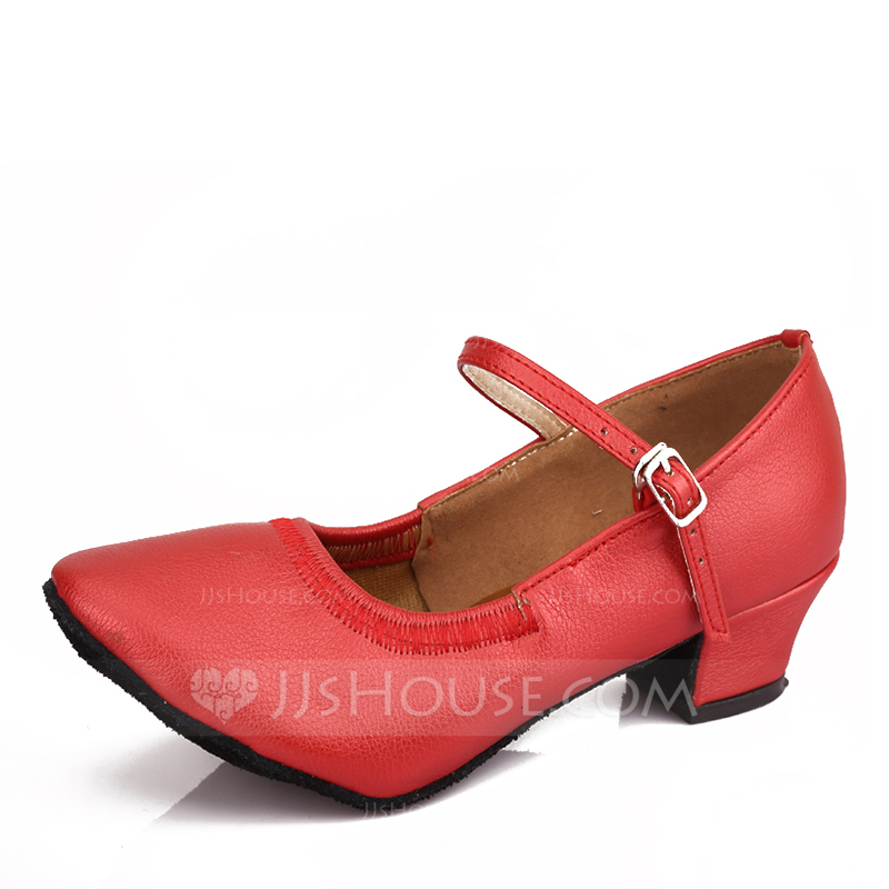 Women's Leatherette Ballet With Buckle Dance Shoes