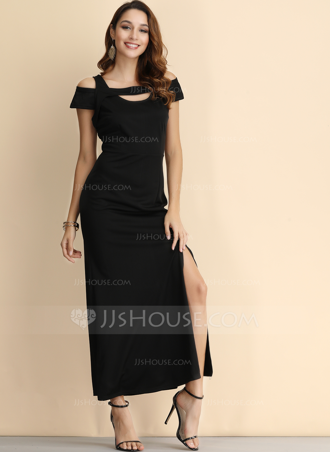 2826aab3a4 Polyester With Resin solid colour Maxi Dress (199206856) - Fashion ...