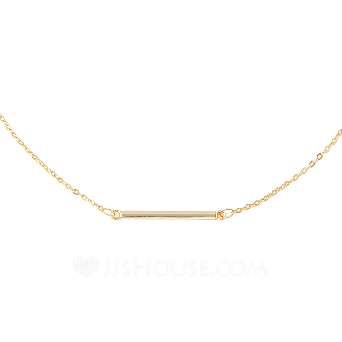 18k Gold Plated Silver Bar Necklace - Birthday Gifts Mother's Day Gifts