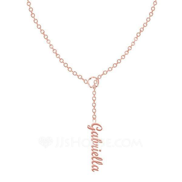 Personalized Ladies' Exquisite 925 Sterling Silver Name Necklaces Necklaces For Bride/For Bridesmaid/For Mother/For Friends/For Couple