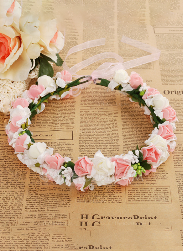 Foam With Ribbon Flower Headband ( Including Wrist Corsage)