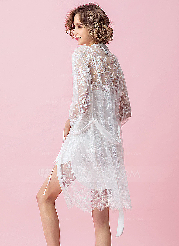 Lace Nylon Bride Bridesmaid Mom Blank Robes Lace Robes