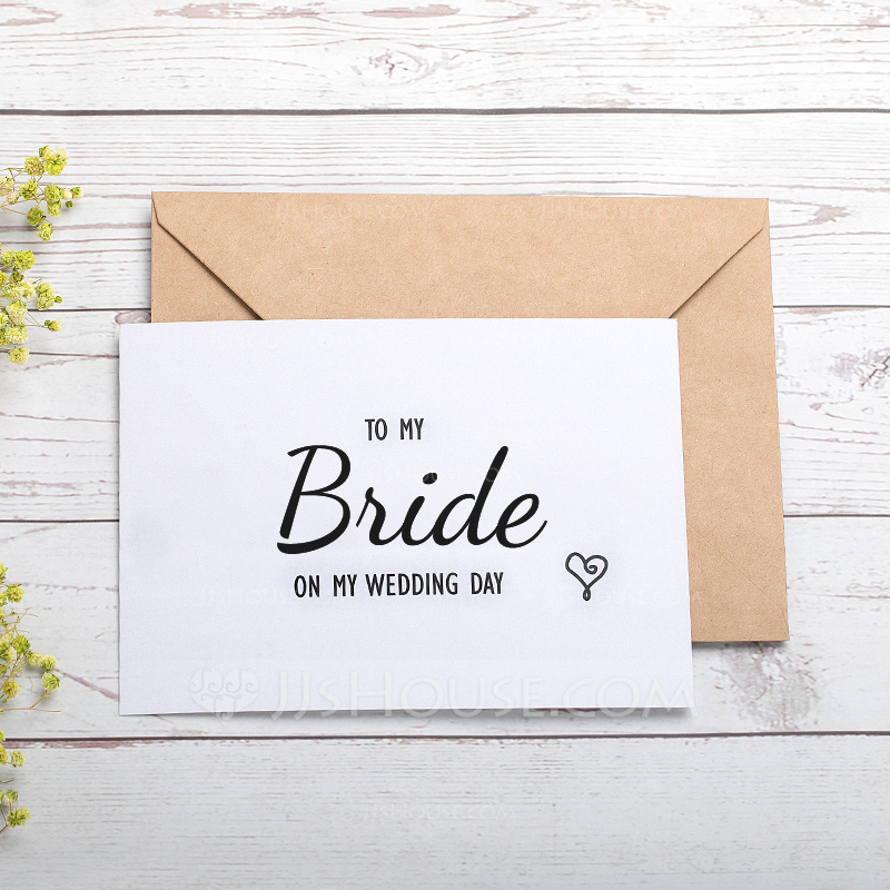 Bride Gifts Classic Paper Wedding Day Card 255184465