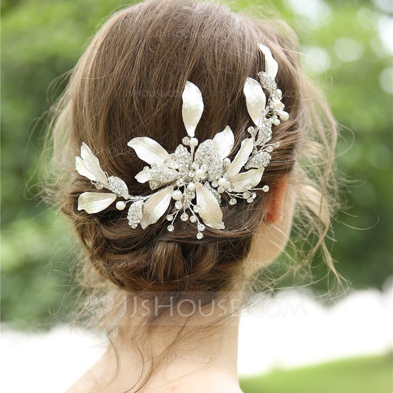 Ladies Beautiful Rhinestone/Alloy/Imitation Pearls Hairpins With Rhinestone/Crystal (Sold in single piece)