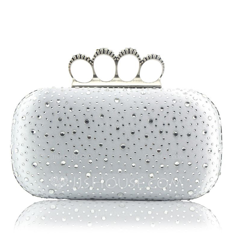 Elegant Silk/Crystal/ Rhinestone Clutches/Top Handle Bags
