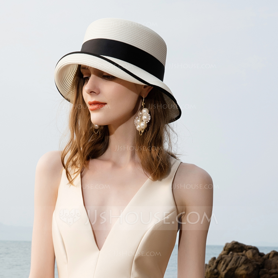 Ladies' Charming Polyester Floppy Hats