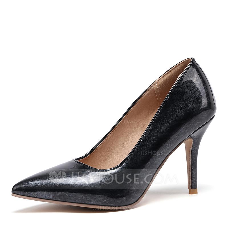 De mujer Piel brillante Tacón stilettos Salón zapatos