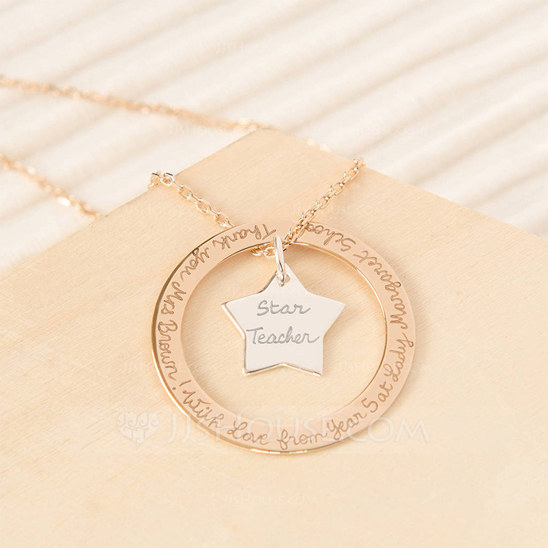 Personalized Ladies' Romantic 925 Sterling Silver Name/Engraved/Bar Necklaces For Bridesmaid/For Mother/For Friends/For Couple