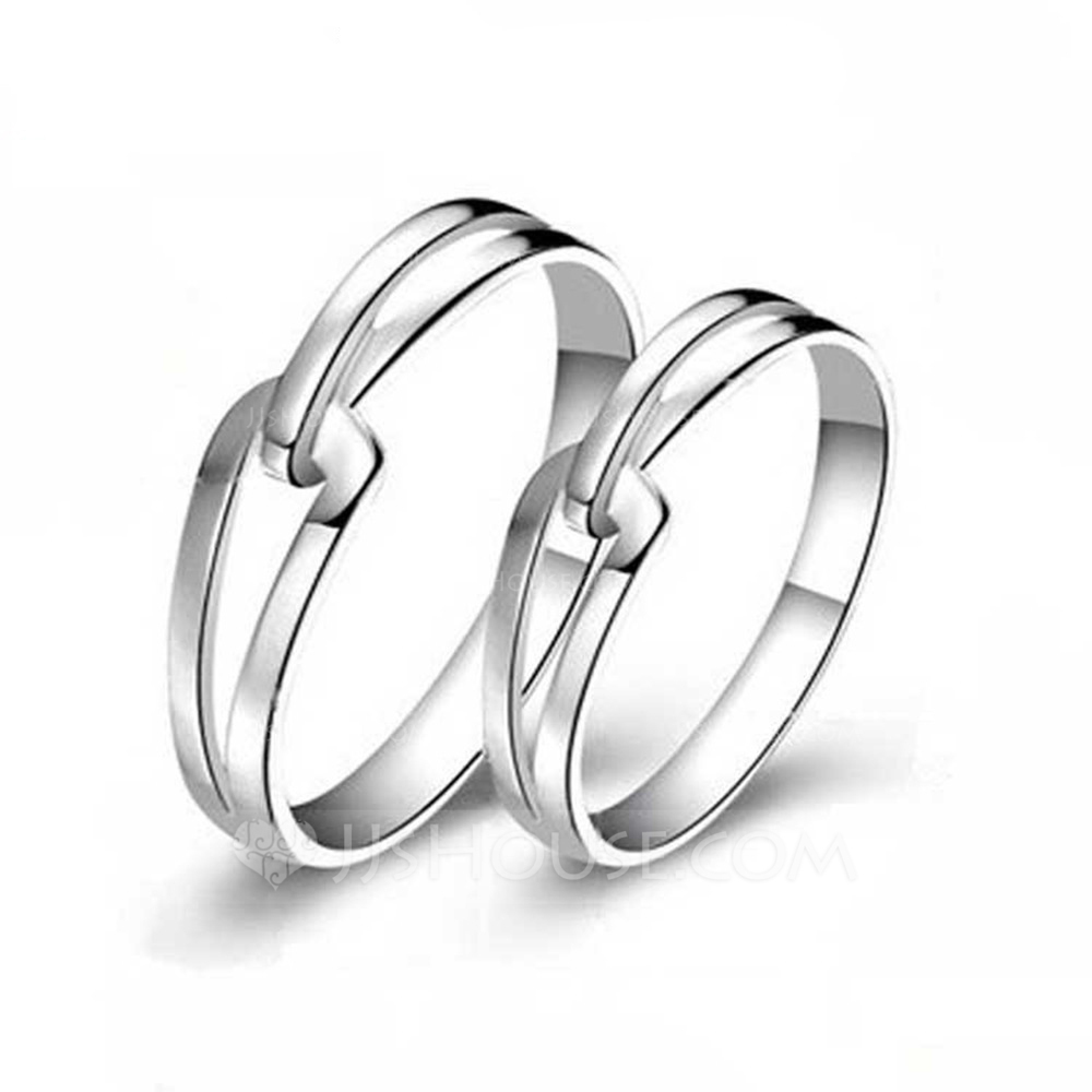 Sterling Silver Knot Couple's Rings - Valentines Gifts