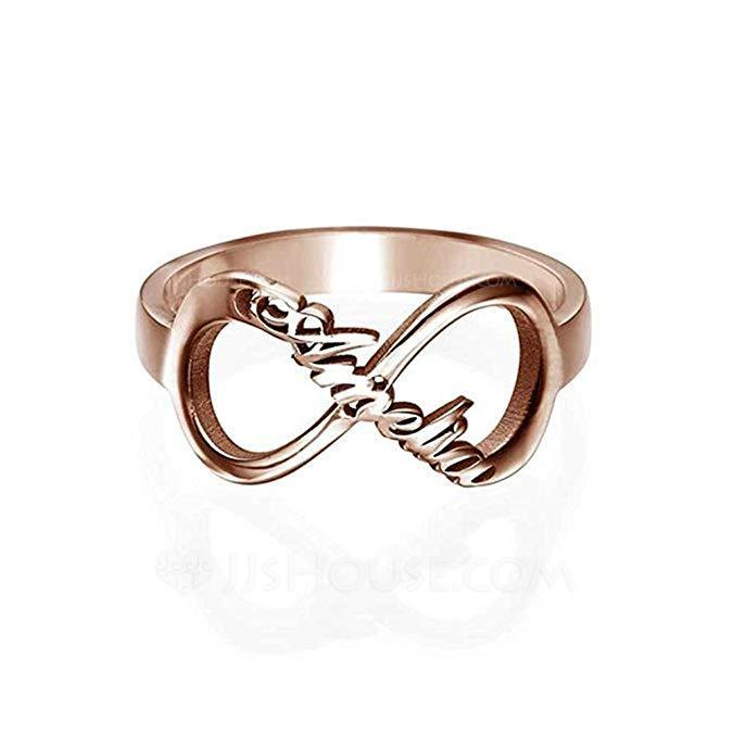 Personalized Classic S925 Sliver Rings For Bridesmaid/For Friends/For Couple
