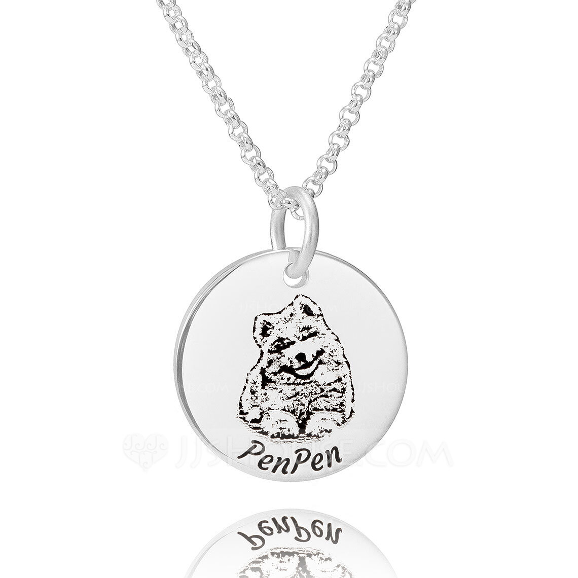 Custom Sterling Silver Engraving/Engraved Circle Engraved Necklace Circle Necklace Photo Necklace - Birthday Gifts
