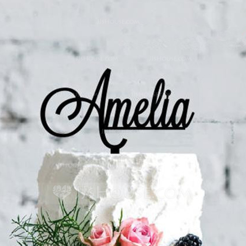 Custom Personalised Acrylic Cake Topper Celebration Topper Anniversaire Paillettes Rose