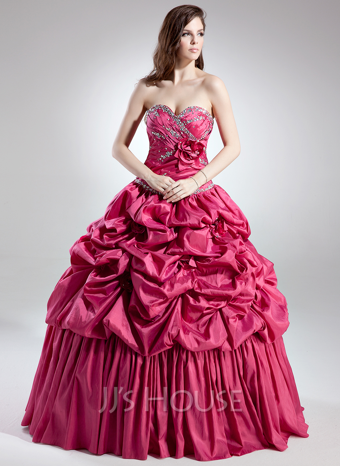 Ball Gown Sweetheart Floor Length Taffeta Quinceanera