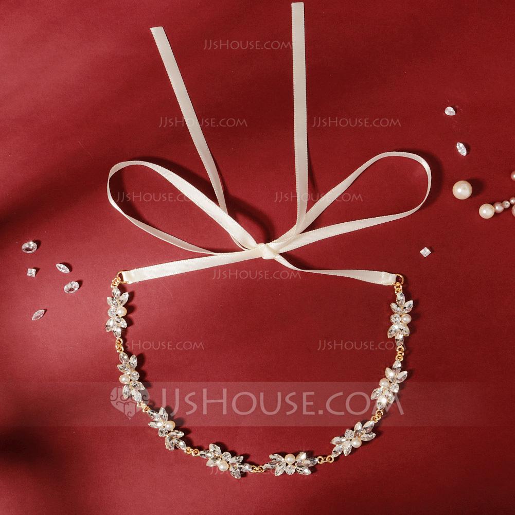 Ladies Lovely Rhinestone/Alloy/Imitation Pearls Headbands With Rhinestone (Sold in single piece)