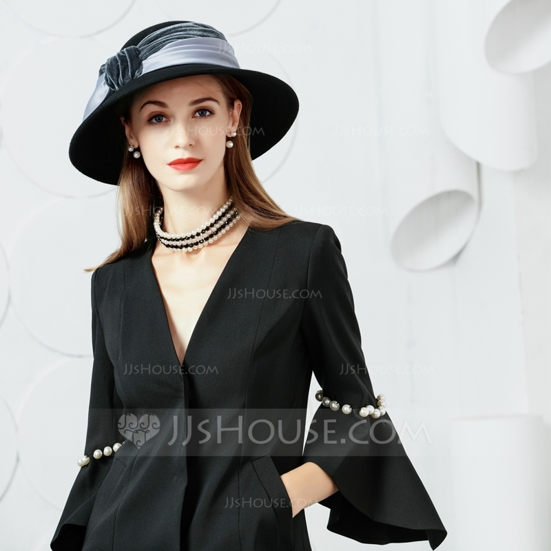 4e461601641 Ladies  Eye-catching Wool Velvet With Bowknot Bowler Cloche Hats Tea. Loading  zoom