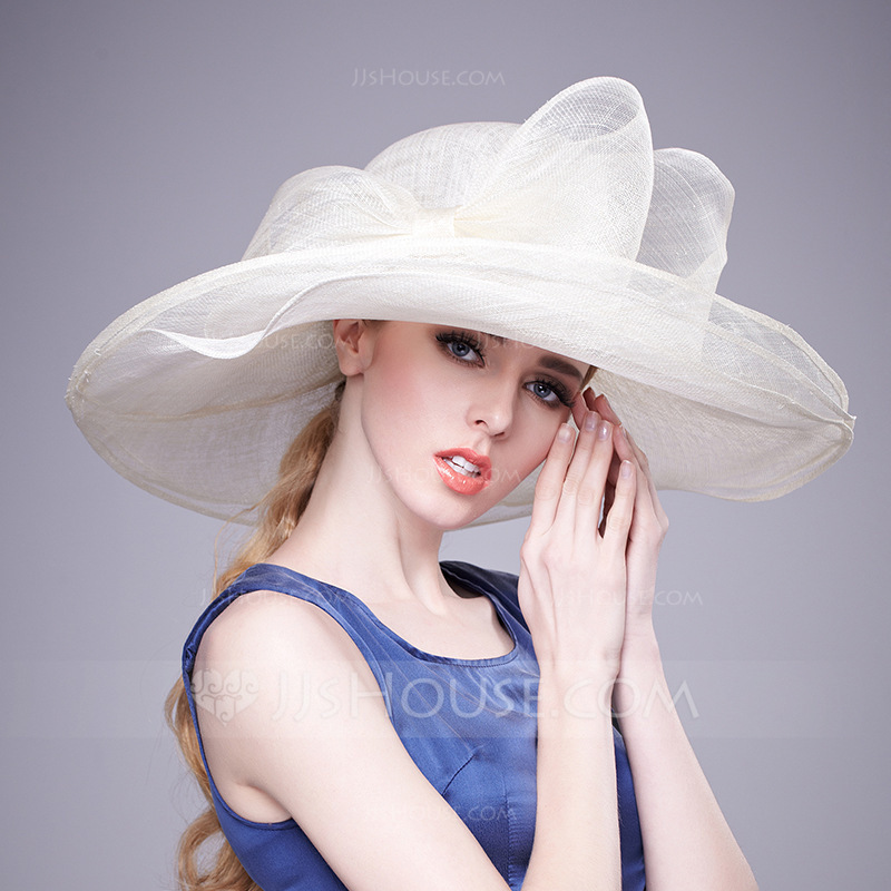 04e91f9612f Ladies  Charming Hottest Cambric With Bowknot Floppy Hats Kentucky Derby  Hats. Loading zoom