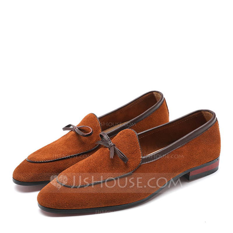 Men's Suede Penny Loafer Casual Dress Shoes Men's Loafers