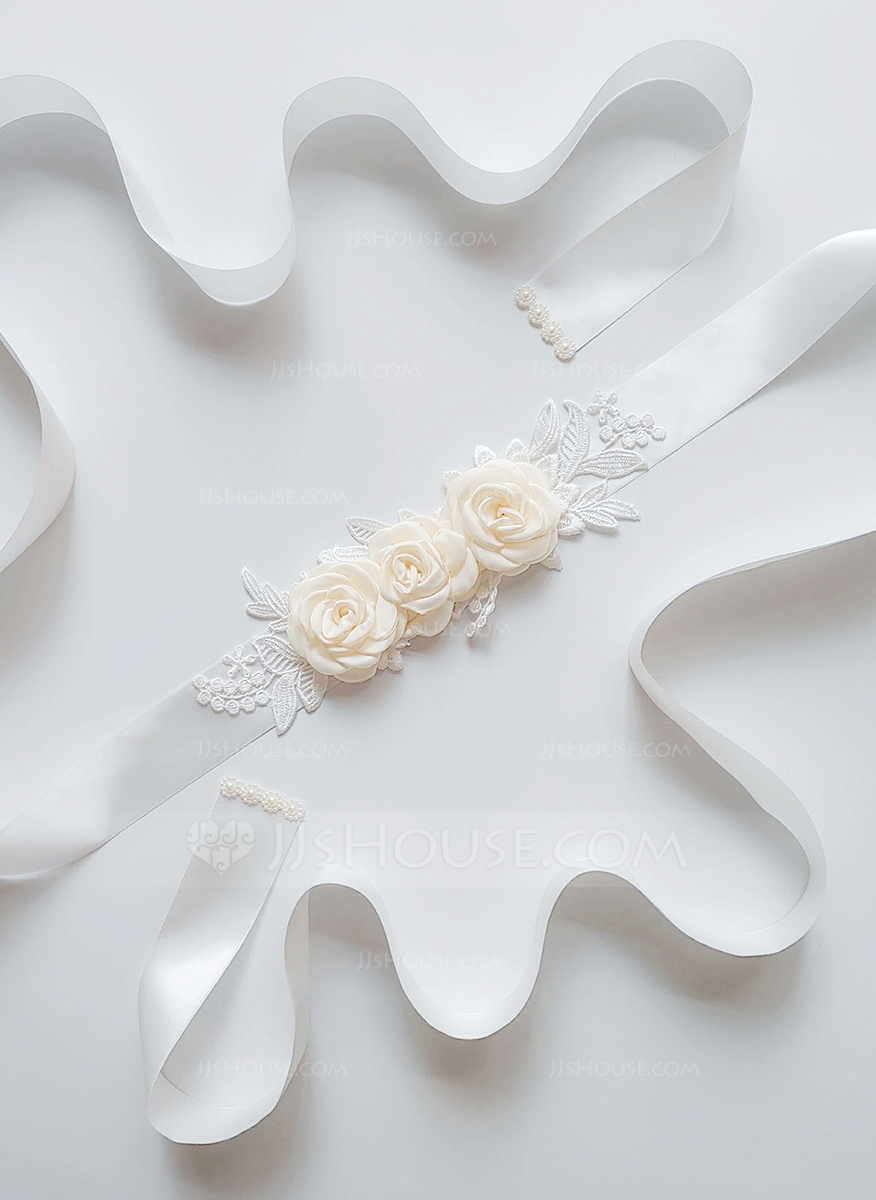 Beautiful Satin Sash With Flower