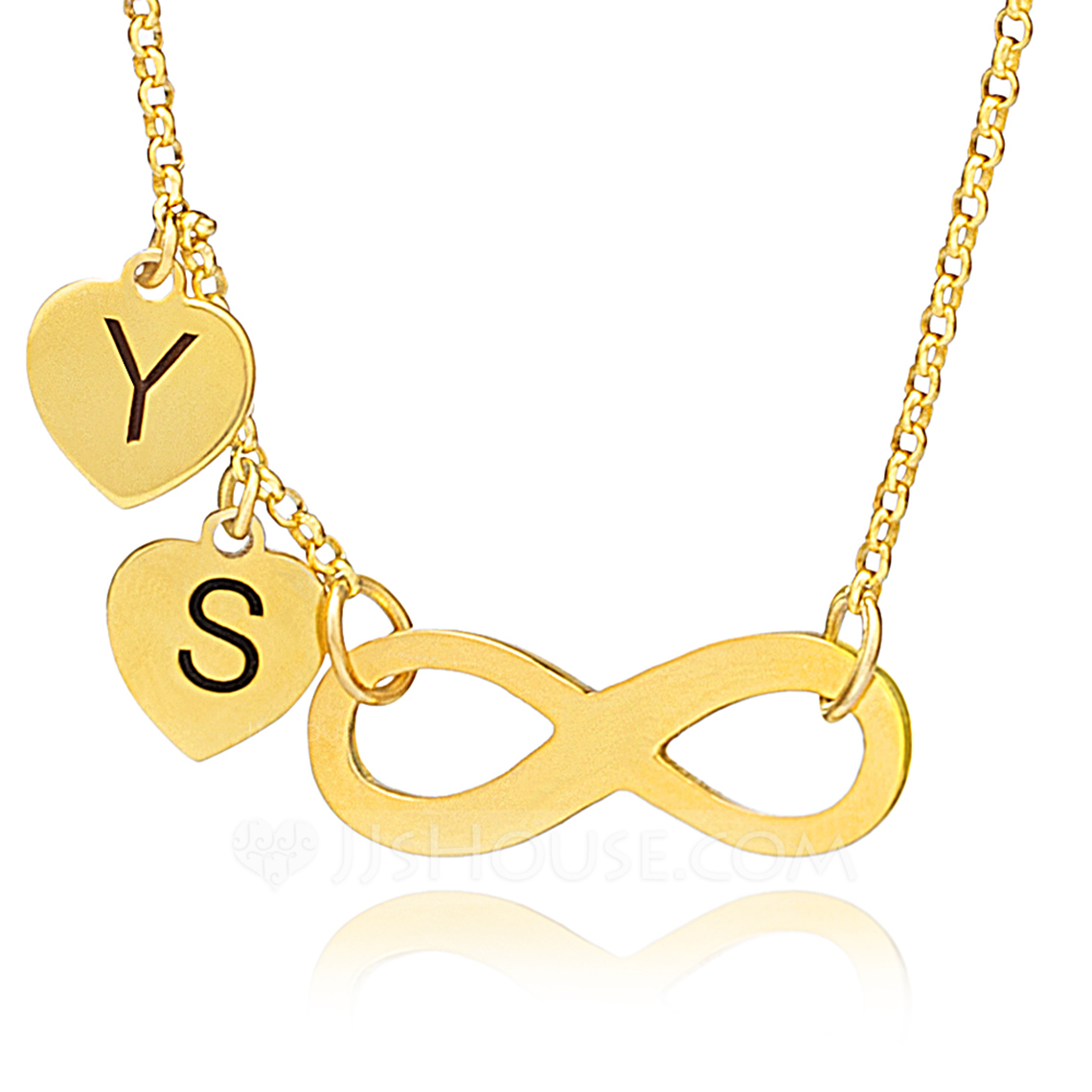 Custom 18k Gold Plated Silver Letter Two Initial Necklace Engraved Necklace Infinity Name Necklace - Birthday Gifts Mother's Day Gifts