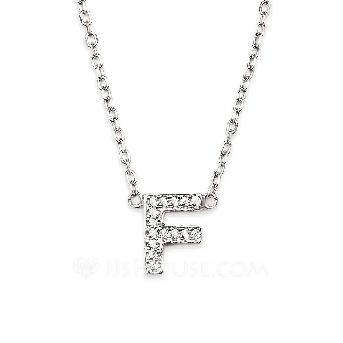 Custom Silver Initial Letter Initial Necklace - Birthday Gifts Mother's Day Gifts