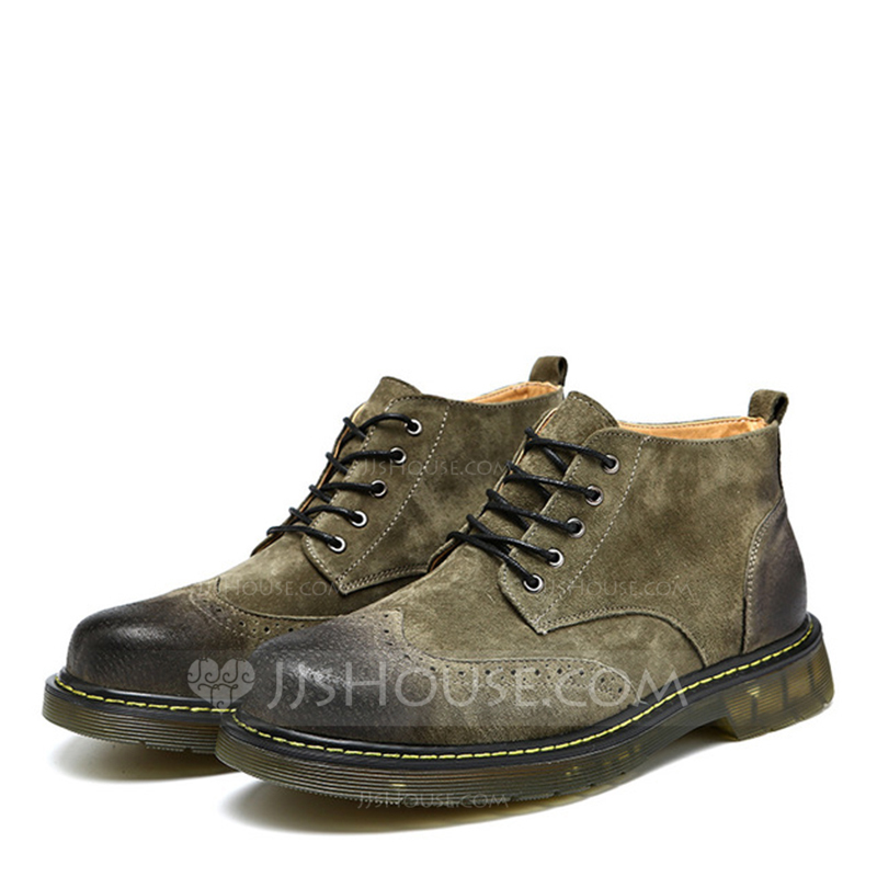 Men's Suede Lace-up Chukka Casual Men's Boots