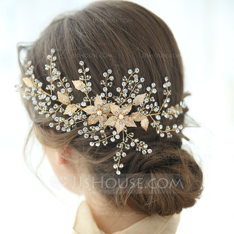 Ladies Glamourous Rhinestone/Alloy Hairpins Rhinestone (Sold in single piece)