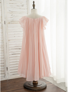 long satin chiffon dress