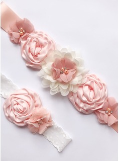 Lovely Satin Sash With Flower