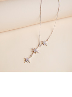 Ladies' Beautiful Copper Rhinestone Necklaces